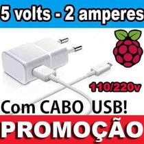 Fonte 5v 2a - Micro Usb - Raspberry Pi B+ - Raspberry Pi 2 B