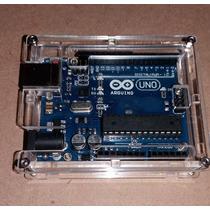 Arduino Uno R3 Rev3 Com Case / Gabinete De Acrílico Cabo Usb
