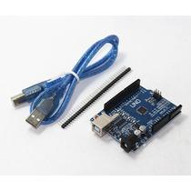 Placa Arduino Uno R3 + Cabo Usb + Ebook Com 50 Projetos