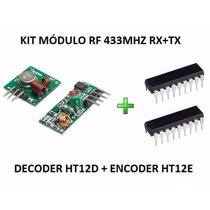 Transmissor Receptor Rf 433mhz + Encoder Ht12e Decoder Ht12d