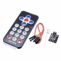 Controle Remoto Ir +receptor +cabo +led Receptor P/ Arduino