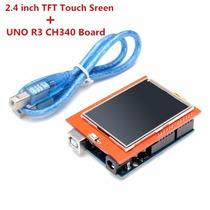 Placa Arduino Uno R3 + Lcd 2,4 Polegadas + Cabo Usb