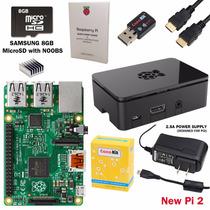 Kit Raspberry Pi 2 Completo + Fonte + Sd + Case