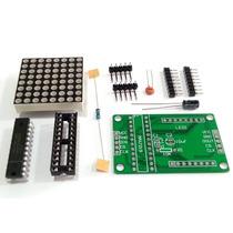 Matriz Led Vermelho De 3mm 8x8 Com Chip Max7219 Arduino Pic