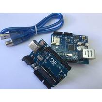 Kit Arduino Uno + Ethernet Shield W5100 - Pronta Entrega!!