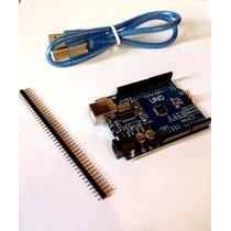 Placa Arduino Uno R3 + Leitor De Cartão Sd - Pronta Entrega
