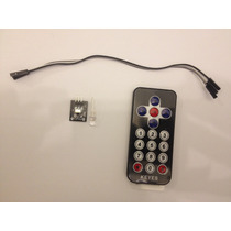 Kit Controle Remoto + Receptor Ir + Led Ir Para Arduino