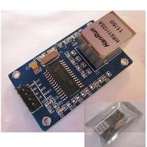 Módulo Ethernet Shield Rede Lan Enc28j60 Para Arduino