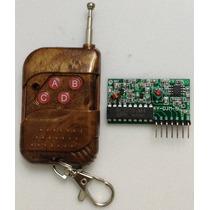 Transmissor E Receptor Rf 433 Mhz (controle Remoto)