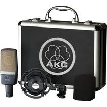 ** Microfone Akg C214 Condensador Studio Com Case + Acessóri
