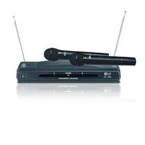 Kit De 2 Microfones De Mão Sem Fio (wireless) + Receptor Biv