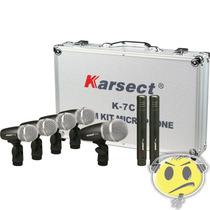 Kit Microfone Bateria Karsect K7c 7 Mics Case Alumínio Top