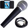 Microfone Csr Ht58a Dinâmico Uni Direcional Com Cabo