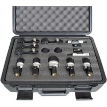 Kit De Microfone Bateria Yoga Mxds7 Com Maleta E 7 Pçs 12 X