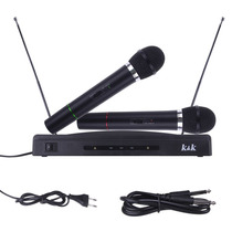 Microfone Com Receptor Duplo Sem Fio Karaoke Festas Eventos