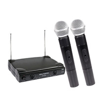 Microfone Sem Fio Duplo De Mão Profissional Soundpro