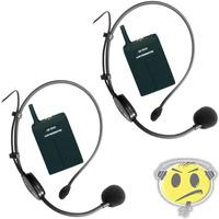 Microfone Headset Sem Fio Duplo Leson Auricular O F E R T A