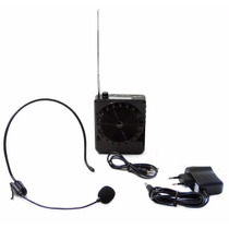 Microfone Com Caixa Para Professor Aula Palestra Amplificado