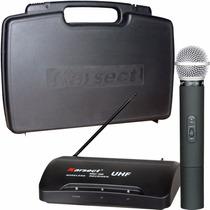 Microfone Karsect Kru200 Pro Mão Recarregavel Uhf Kadu Som