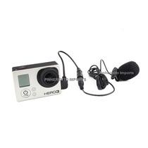 Microfone Completo E Adaptador Para Gopro Hero 3 E 3+ Stereo