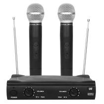 Microfone Duplo Sem Fio Uhf Profissional