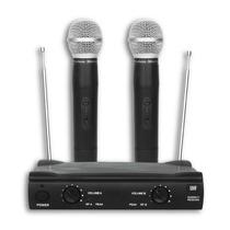 Microfone Sem Fio Uhf Profissional Duplo De Mão Frete Grátis