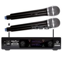 Microfone Sem Fio Duplo Uhf Waldmam Novo Som Profissional
