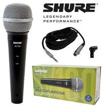 Microfone Shure Sv100 Original + Cabo Novo A Pronta Entrega