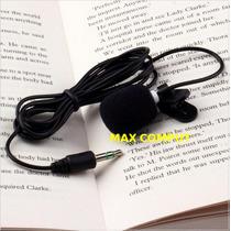 Microfone Lapela Com Espuma Anti-puff Grátis