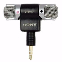 Microfone Sony Ds70p Estéreo P/ Notebook, Gravadores, Gopro