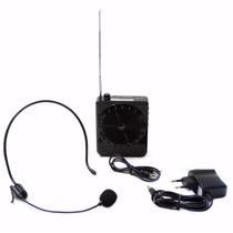 Kit Caixa Microfone Amplificado Caixa De Som Sd Pen