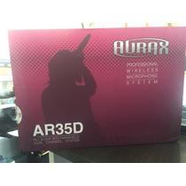 Microfone Sem Fio Aurax Duplo Top Modelo Ar 35 D