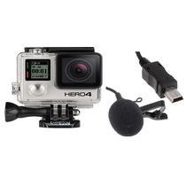 Microfone Profissinal - Capacete Moto - Gopro Hero 4 E 3 3+