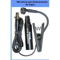 Microfone Captador De Som P/ Ins. De Sopro Php 600 Black Bug