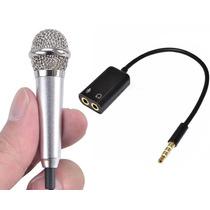 Microfone + Adaptador P3 P/usar Celular Smartphone No Brasil