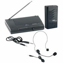 Microfone Sem Fio Auricular Headset De Cabeça Vhf855 Skp