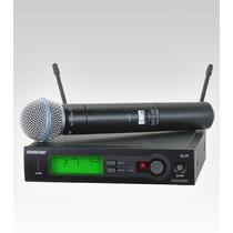 Microfone S/ Fio De Mão Uhf Slx24/beta58 Shure Marcelo E M