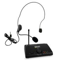 Microfone Sem Fio Headset Uhf Skp Mini-v