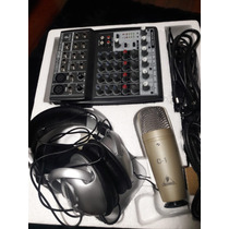 Microfone Behringer C1 + Mixer + Fone De Ouvido