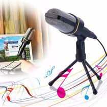 Microfone De Stúdio Profissional Gravação De Audio Suporte