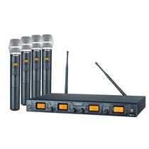 Microfone Sem Fio De Mão Staner Quadruplo Srw48q/ht