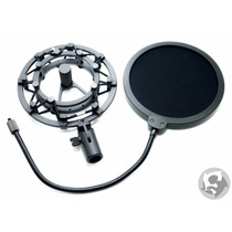 Shock Mount E Pop Filter Para Microfone Razer Seiren