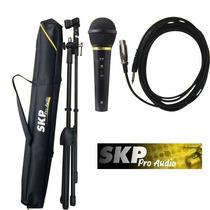 Microfone Skp Com Pedestal Set M1