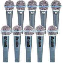 Kit Com 05 Microfones Arcano G-58a Ou B = Shure Beta58 Cabo+