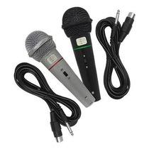 Kit 2 Microfones Profissional Com Fio Loud + Cabo