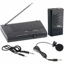 Microfone Sem Fio Lapela Vhf755, Alcance 50m - Skp
