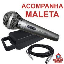 Microfone Dinâmico Profissional Palco Estúdio Vocal Igreja