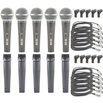 Kit 05 Microfones Arcano A-57 Ou A-58 = Shure ( Sm57 Sm58 )