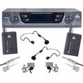 Kit Microfone Sem Fio Duplo Uhf Arcano Arc-2b Auric Lapela