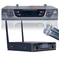 Microfone Uhf Sem Fio Duplo Arc-2h Beta58 Até 90 Metros